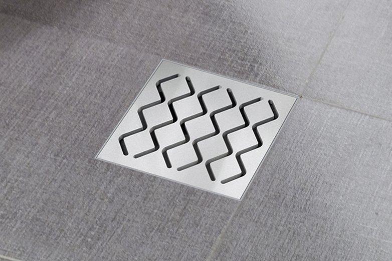 Трап Ravak 105×105 / 50, кришка – нержавіюча сталь (SN501)
