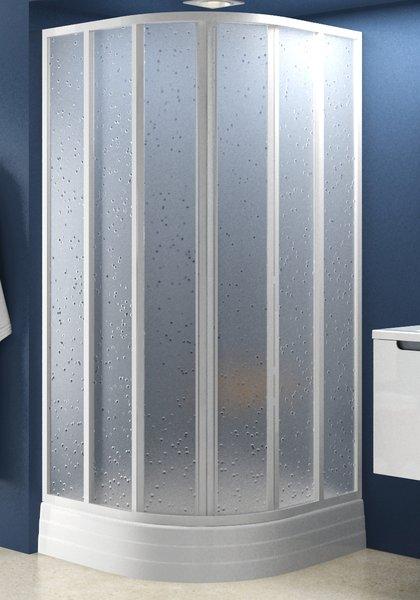 Душевая кабина Ravak SKKP 6-80 transparent, полукруглая, стекло