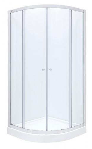 Душевая кабина Roca City-N Rondo 90см, полукруглая, прозрачное стекло , профиль хром + поддон Malaga