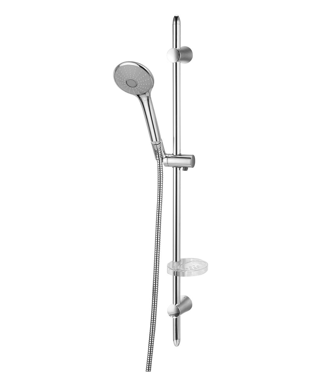 Душевая штанга IMPRESE VACLAV  L-72см,мыльница,ручной душ 3 режима,шланг 1,5м с вращающимся конусом (Anti-Twist),блист. 7212003