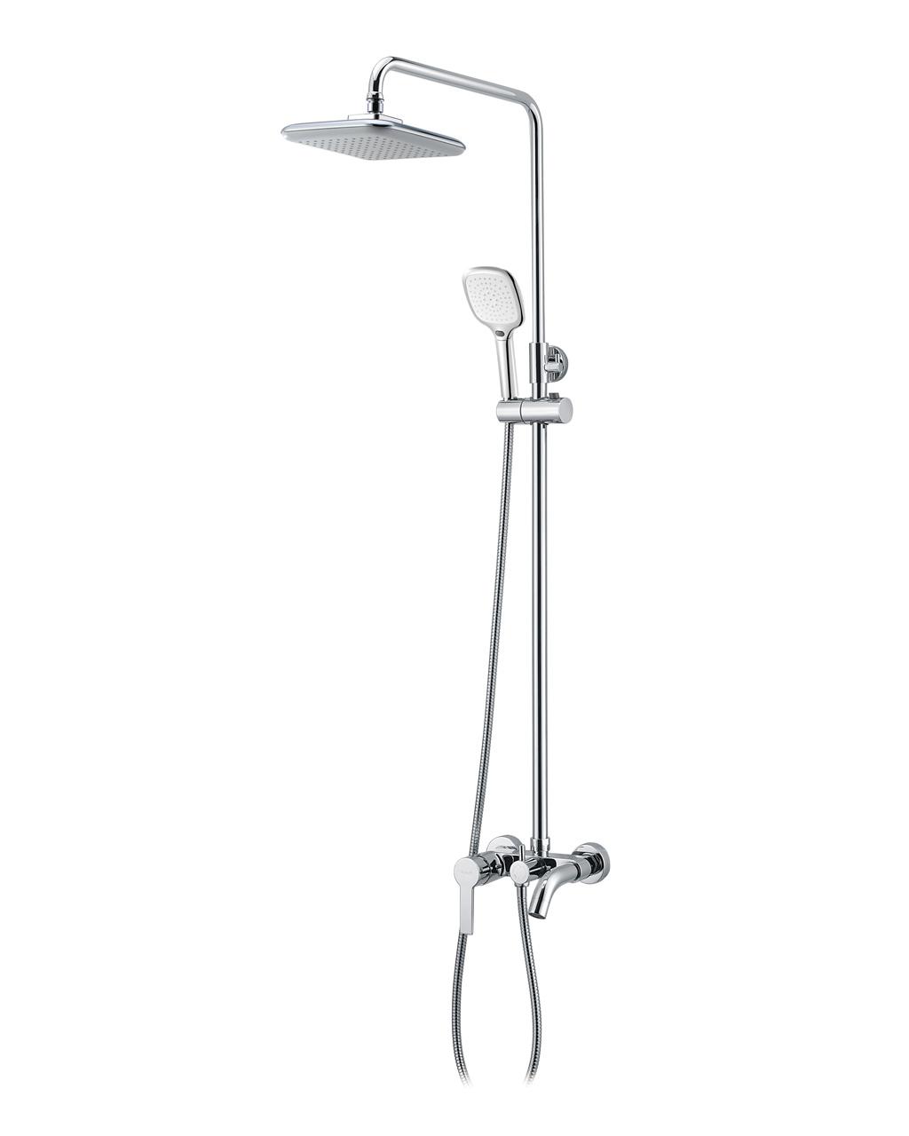 Душова система Imprese BILA DESNE (змішувач для ванни, верхній і ручний душ 3 режими, шланг 1,5м) T-10155