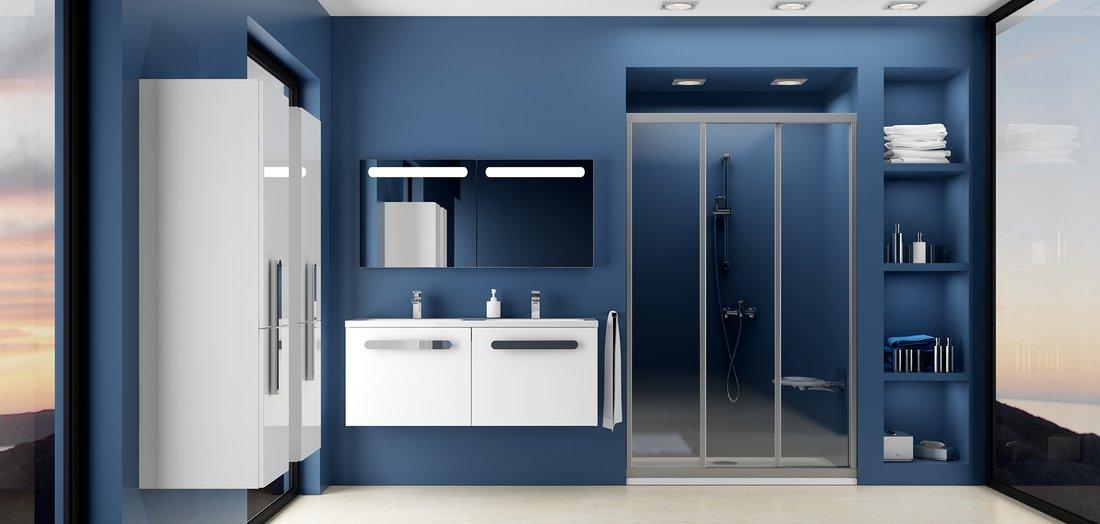 Двері для душової кабіни Ravak ASDP 3-110 transparent, профіль білий, скло