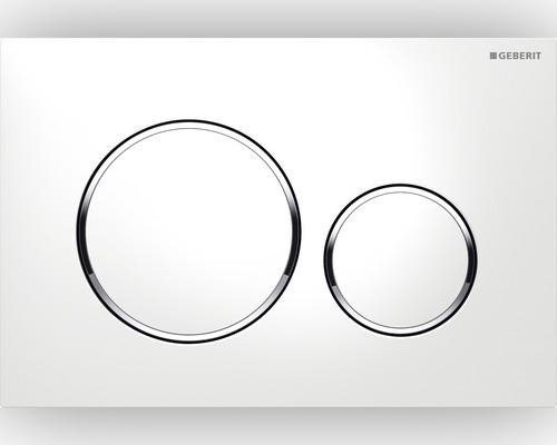 Клавиша для двойного смыва GEBERIT Sigma 20 белая/хром/белая (115.882.KJ.1)