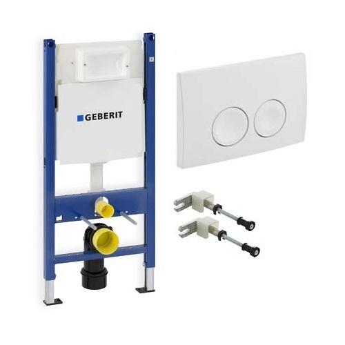 Инсталляционная система Geberit Duofix для унитаза + кнопка белая + крепление