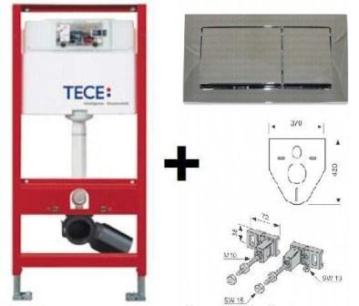 Инсталляция TECE base с панелью смыва TECEbase хром глянцевый (9400006)