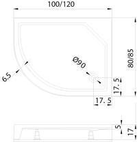 Душовий піддон New Trendy New Maxima 120х85×17 B-0285 / P