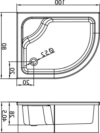Душевой поддон New Trendy Maxima 100х80×40,5 B-0183/L