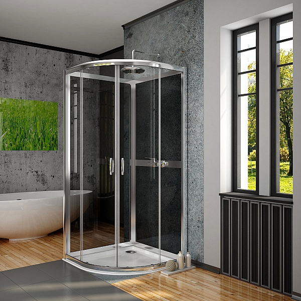 Задняя стенка Radaway Premium Plus 2S 900, стекло графитовое (33433-01-05N)