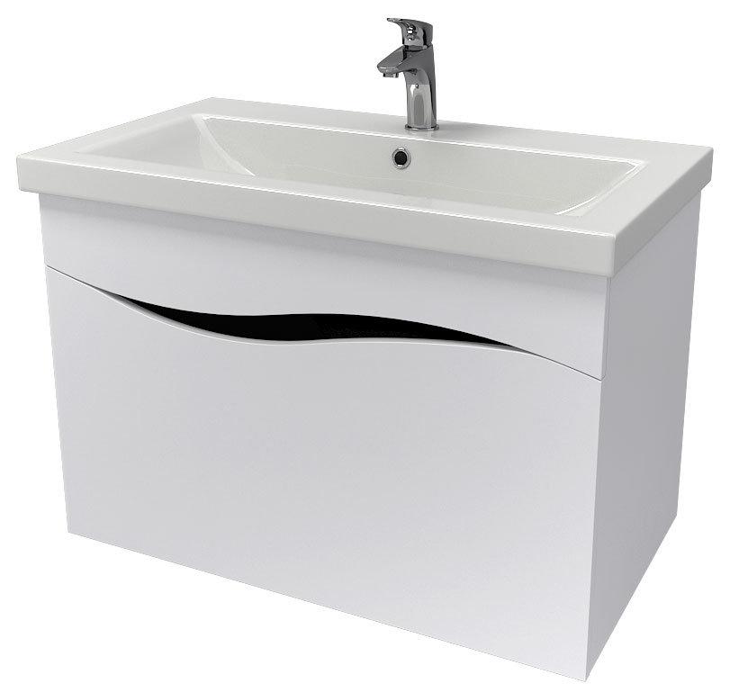 Мебель Аква Родос «Альфа» с умывальником «Como» 80 см (консольная)