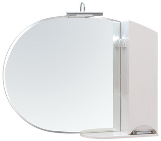 Зеркало Аква Родос Глория 105 см с подсветкой и пеналом слева