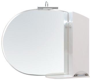 Зеркало Аква Родос Глория 105 см с подсветкой и пеналом справа