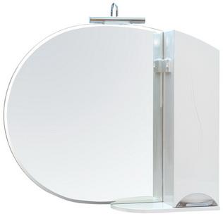 Зеркало Аква Родос Глория 95 см с пеналом справа и без подсветки