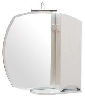 Зеркало Аква Родос Глория 65 см с подсветкой и пеналом слева