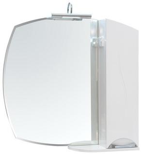 Зеркало Аква Родос Глория 75 см с пеналом слева и без подсветки