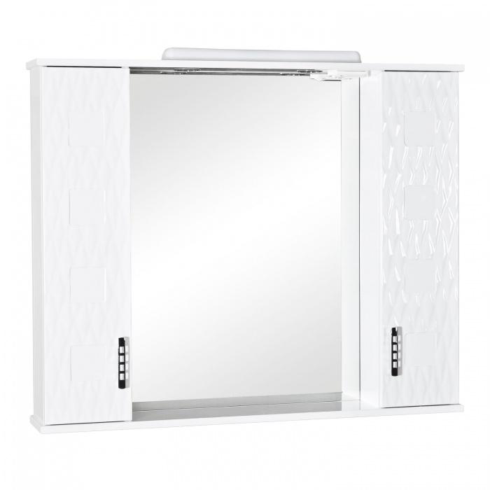 Зеркало Аква Родос АССОЛЬ 100 см с подсветкой и двумя пеналами