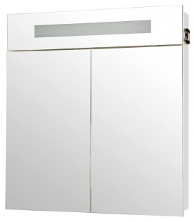 Галерея зеркальная Аква Родос Ника (белый цвет) с подсветкой 75 см