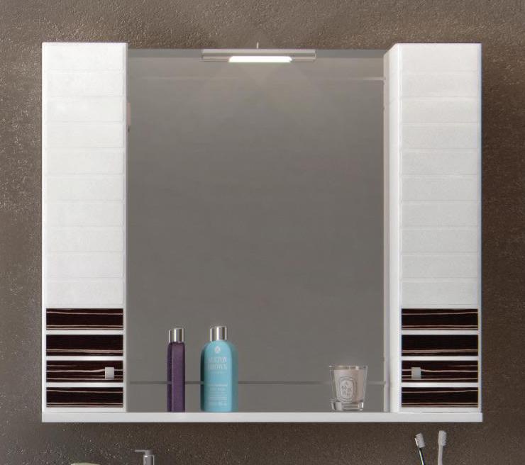 Зеркало Аква Родос ИМПЕРИАЛ  95 см (венге) с подсветкой (LORENA) и двумя пеналами
