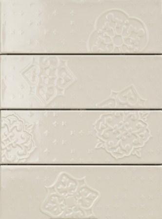 Плитка настенная Ragno Brick Glossy Decoro Grey 10×30