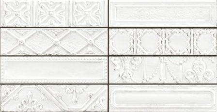 Керамогранит Ragno Eden Decoro Tin Bianco 7×28 R12C