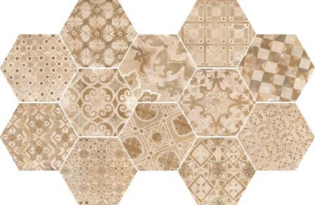 Керамогранит Ragno Epoca Decoro Cementine Rosa 18,2×21 R55U