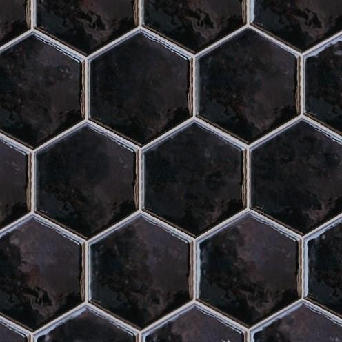 Настенная плитка Equipe Hexatile Negro Brillo 17,5×20 20525