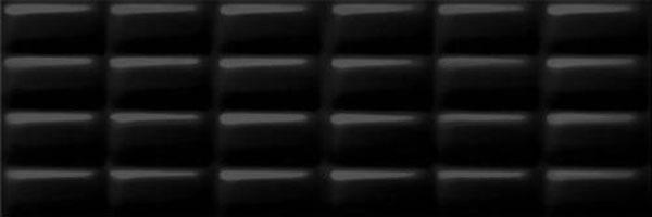 Плитка настенная Opoczno Pret A Porter Black Glossy Pillow Structure 25×75