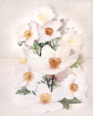 Декор Cersanit Rensoria 50×40 панно цветок