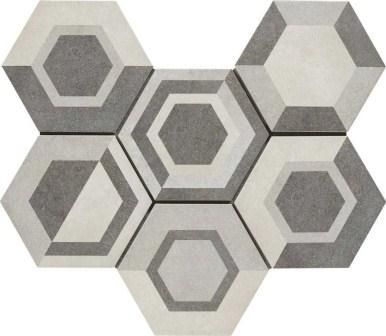 Керамогранит Ragno Rewind Decoro Geometrico Vanilla 18,2×21 R4Dt