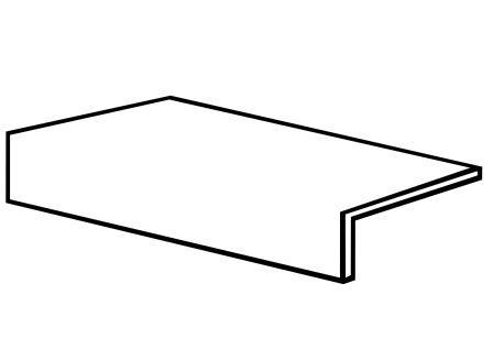 Керамогранит ступенька Ragno Urbe Grigio Scuro 15×30 R57D