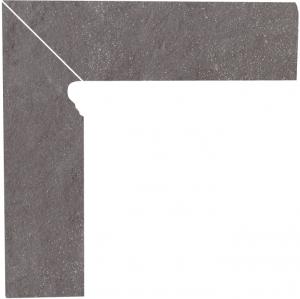 Напольный декор Paradyz Taurus Grys двухэлементный левый 8,1 x 30 x 1,1