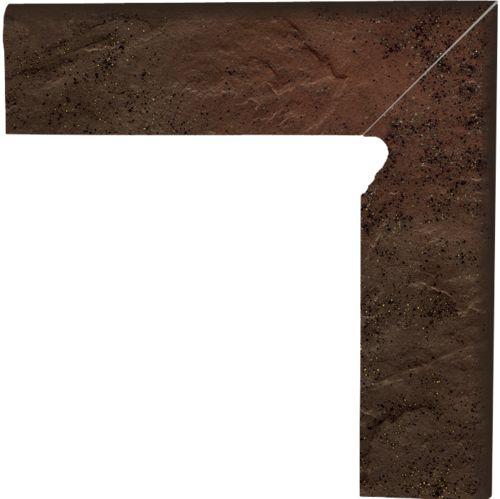 Напольный декор Paradyz Semir Brown двухэлементный правый 8,1 x 30 x 1,1