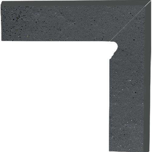 Напольный декор Paradyz Semir Grafit двухэлементный правый 8,1 x 30 x 1,1