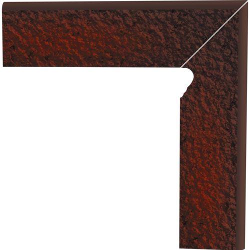 Напольный декор Paradyz Cloud Brown Duro двухэлементный правый 8,0 x 30 x 1,1