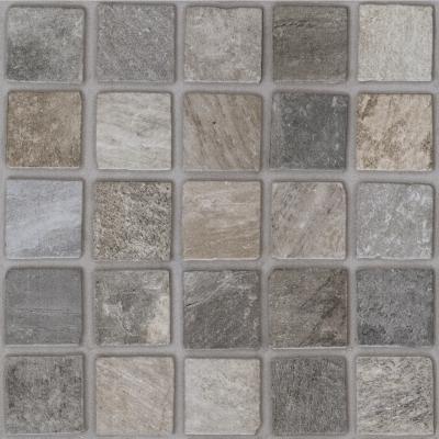 Плитка напольная Paradyz Rockaway Grys A (структура, клетка) 40 x 40