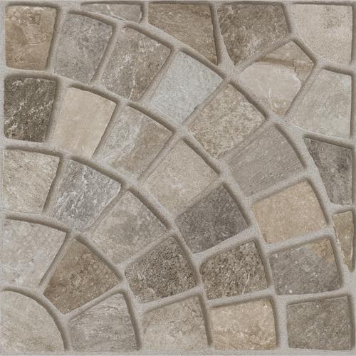 Плитка напольная Paradyz Rockaway Grys B (структура, клетка 1/4 РОЗЕТКИ) 40 x 40
