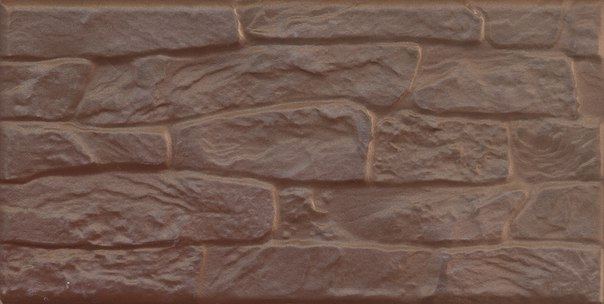 Фасадная плитка Березакерамика Арагон коричневый 25×12,5