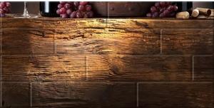 Декор Березакерамика Брик-4 кремовый 30×60 Вино, глянец