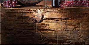 Декор Березакерамика Брик-3 кремовый 30×60 Вино, глянец