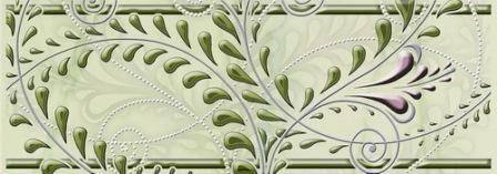 Фриз Березакерамика Капри Лилия 6,5×25 зеленый