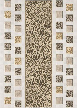 Декор Березакерамика Квадро 25×35 белый