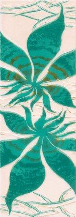 Фриз Березакерамика Магия вертикальный 11,5×35 бирюзовый