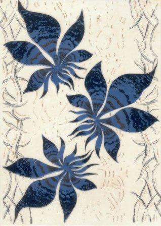 Декор Березакерамика Магия 25×35 синий