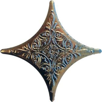 Вставка Tau Ceramica Caspio-Dalmacia Angara Estrella Antracite 6,7×6,7