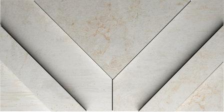 Керамогранит Apavisa Cast Iron White Nat Decor Ramp 29,75×59,55