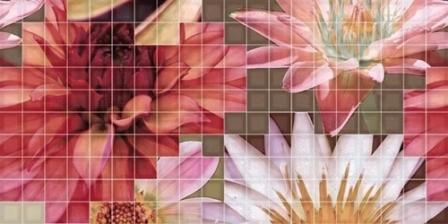 Декор Fanal Mosaico Crema Flor 1 25х50