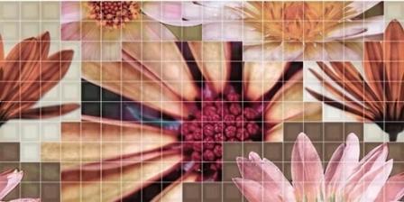 Декор Fanal Mosaico Crema Flor 2 25х50
