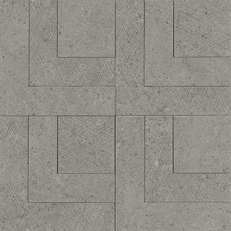 Керамогранит Apavisa Nanoconcept 7.0 Anthracite Decor Ramp 44,63×44,63