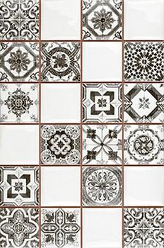 Плитка настенная Argenta Novum Whiteblack 25×40