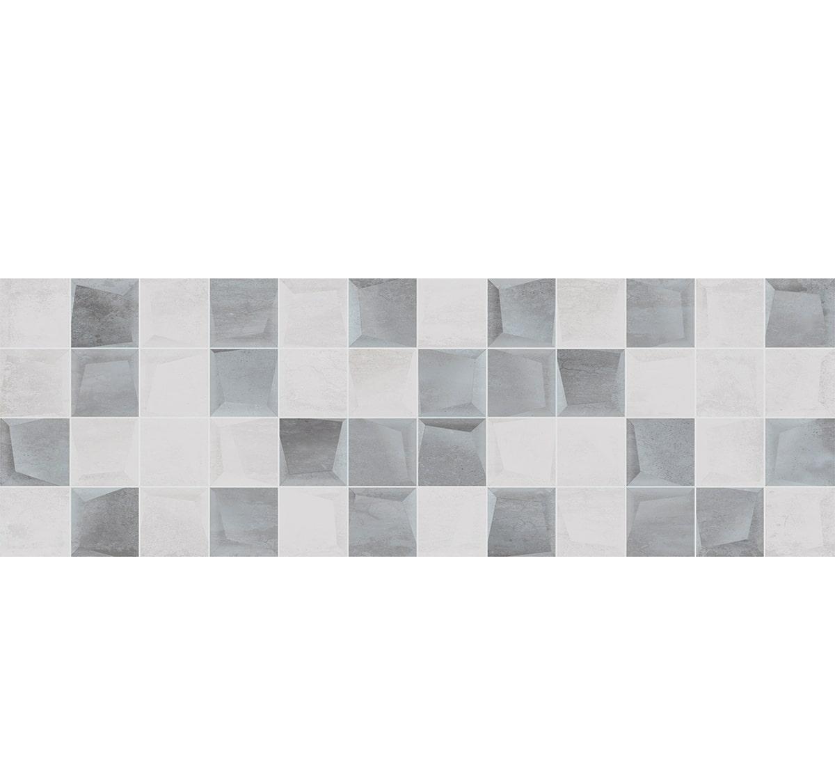 Плитка Geotiles INOX RLV. GRIS RECT 30х90