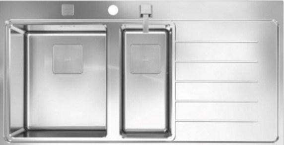 Кухонная мойка Teka ZENIT R15 1 1/2B 1D RHD 1000х520 (13139007)